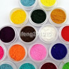 18 Colors Nail Art Velvet Flocking Powder Nail Tips Design Decoration Manicure