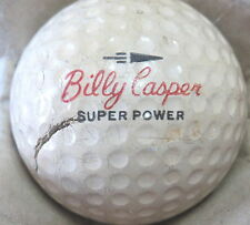 (1) BILLY CASPER SIGNATURE LOGO GOLF BALL (CIR 1962 #4 SUPER POWER WILSON)