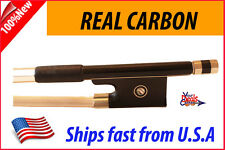 New Genuine Carbon Fiber Violin Bow  1/4  --Black