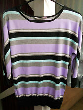 H&M girls purple multicoloured stripy casual party summer top age 10 11 12 years