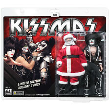 KISS 8 Inch Mego Style Action Figure Holiday Two-Packs: Santa & The Catman