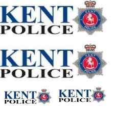 *4 X KENT POLICE LONG  WATERSLIDE DECAL IDEAL FOR CODE 3 MODELS CORGI LLEDO ETC