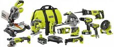 Ryobi Cordless Combo Power Tool Kit 12 Tools ONE+ 18 Volt Lithium Ion P1896 NEW