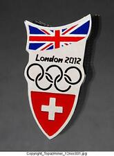 OLYMPIC PINS 2012 LONDON ENGLAND INTERNAL COUNTRY NOC SWITZERLAND SWISS