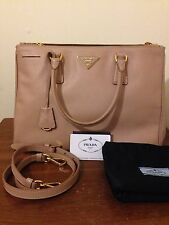 Authentic Prada Saffiano Lux Medium Double-Zip Tote