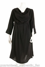 SALE %% CHAMPAGNE BLACK COWL NECK PLEAT LAGENLOOK TUNIC TUNIKA UK 14-16 rrp £149