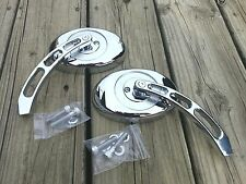 Beautiful Chrome Oval Style Mirrors (set-2) Harley Models PRICE LOWERED was $118