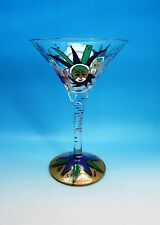 """MARDI GRAS"" LOLITA FESTIVAL DESIGN LOVE MY MARTINI GLASS WITH COCKTAIL RECIPE"