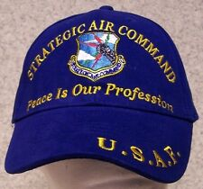 Embroidered Baseball Cap Military Air Force Strategic Air Command NEW 1 size fit