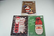 Lot of 3 Bright Ideas Folk Art Tole Painting Books - Christmas