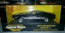 1/18 ERTL Black Chrome Chase 1973 Ford Mustang Mach 1 very rare Limited MIB