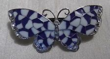 Purple Butterfly Barrette Hairclip with Diamantes