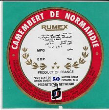H61 FROMAGE CAMEMBERT DE NORMANDIE  RUMEX