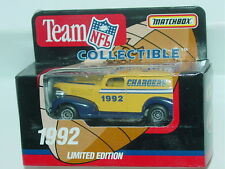 MATCHBOX 1992 TEAM NFL COLLECTIBLE GMC 1950 PANEL TRUCK CHARGERS
