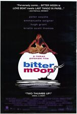 BITTER MOON Movie POSTER 27x40 Peter Coyote Emmanuelle Seigner Hugh Grant