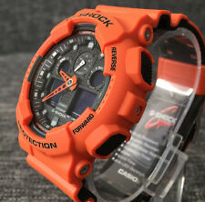 CASIO G SHOCK GA-100L-4A NEW 2016 ORANGE XLARGE ANALOG&DIGITAL 200M WR BRAND NEW