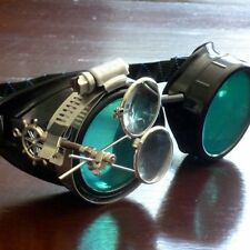 Steampunk goggles glasses welding diesel punk biker goth cosplay rave lens sbw