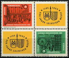 East Germany DDR 1964 SG#E733-4 Leipzig Spring Fair MNH Block Cat £23 #A82037