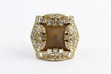 Alexis Bittar Square Chunky with CZ Crystal Detail Ring Size 7.5