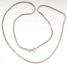 Foxtail Herringbone 925 Silver Wheat Singapore Chain Necklace Snake Skin Cascade