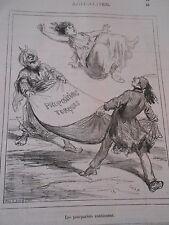 Typo Caricature 1877 - Propositions Turques Saut dans le drap !