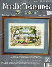 ** COUNTED CROSS STITCH KIT NEEDLE TREASURES BORDERLINES OPEN GATE SAILBOAT