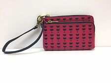 Fossil Sofia Leather Phone Wristlet Wallet (Pomegranate)