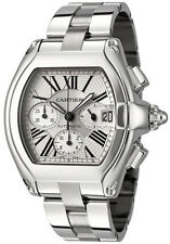 W62019X6 | CARTIER ROADSTER | AUTHENTIC MENS XL STEEL AUTOMATIC WATCH