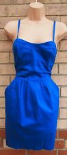TOPSHOP STRAPPY CORSET TULIP BODYCON PENCIL RARE FORMAL WORK DRESS 10 S