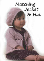 girls hat and jacket knitting pattern 99p