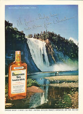 1955 Canadian Whisky Montmorency Falls - Original Advertisement Print Ad J124