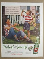 7 Up 1954 Seven-Up Ad ALL FAMILY DRINK - BREAK FROM CHORES