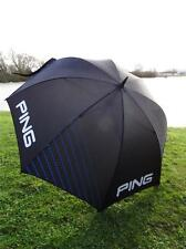 "Ping Golf - 62"" Black/Blue Umbrella -Now £29.99 + FREE Ping Tour Tees/Ballmarker"