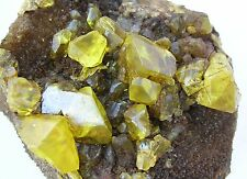 SULFUR SULPHUR CRYSTALS SOUFRE-SCHWEFEL- BITUMINOUS- From SICILY CM 11X10X7