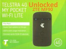 TELSTRA 4G MY POCKET WIFI LITE ZTE MF90  BLACK  (UNLOCKED)