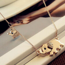 Fashion Elephant Pendant Chain Choker Gold Necklace Women Lady Jewelry Gift