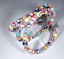 Damen-Schmuck Mode und Antik  Armband Spirale 3 lagig / sehr bunt und farbenfroh