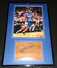 Boris Diaw Signed Framed 12x18 Floorboard & Photo Display France Spurs
