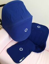 Bugaboo cameleon fleece fabric set blue hood , apron and seatcover