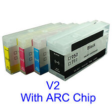 HP950 HP951 Pro8100 pro8600 pro251dw pro276dw refillable ink cartridge w/chip V2