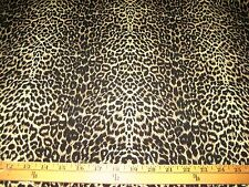"Black/Chamois/Brown Leopard/Cheetah 2 Way Stretch Poly Lycra Fabric 60"" W BTY"