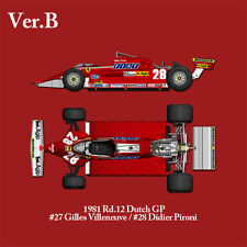MFH 1/12 Ferrari 126CK [ver.B] 1981 Rd.12 Dutch GP K530 Multi Material Kit