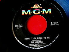 ANIMALS~BRING IT ON HOME TO ME~RARE~SMALL PRINT~FOR MISS CAULKER ~ POP 45
