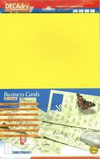 Decadry SCB 7705  150 Yellow Business Cards. Make your own Business cards