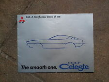 COLT CELESTE UK BROCHURE 1600 ST / 2000 GT   June 1975 / 1976 MITSUBISHI