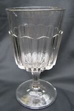 Antique 1890s Dalzell EAPG Pattern Glass Rib Band Water Goblet
