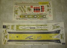 SS Normandie 26-Inch Coated Paper Model Ship, 1938 Kraft Reissue, It Floats!