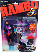 RAMBO S.A.V.A.G.E. The Enemy of Rambo Black Dragon New Mint on Sealed Card MOSC!