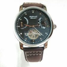 PARNIS 43mm TOURBILLON & POWER RESERVE WATCH WITH SEAGULL ST2505 MVMT