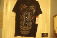 ROCK & ROLL PUNK RED CHAPTER USA BREATHE MUSIC Black Ambigram T-Shirt Top NEW